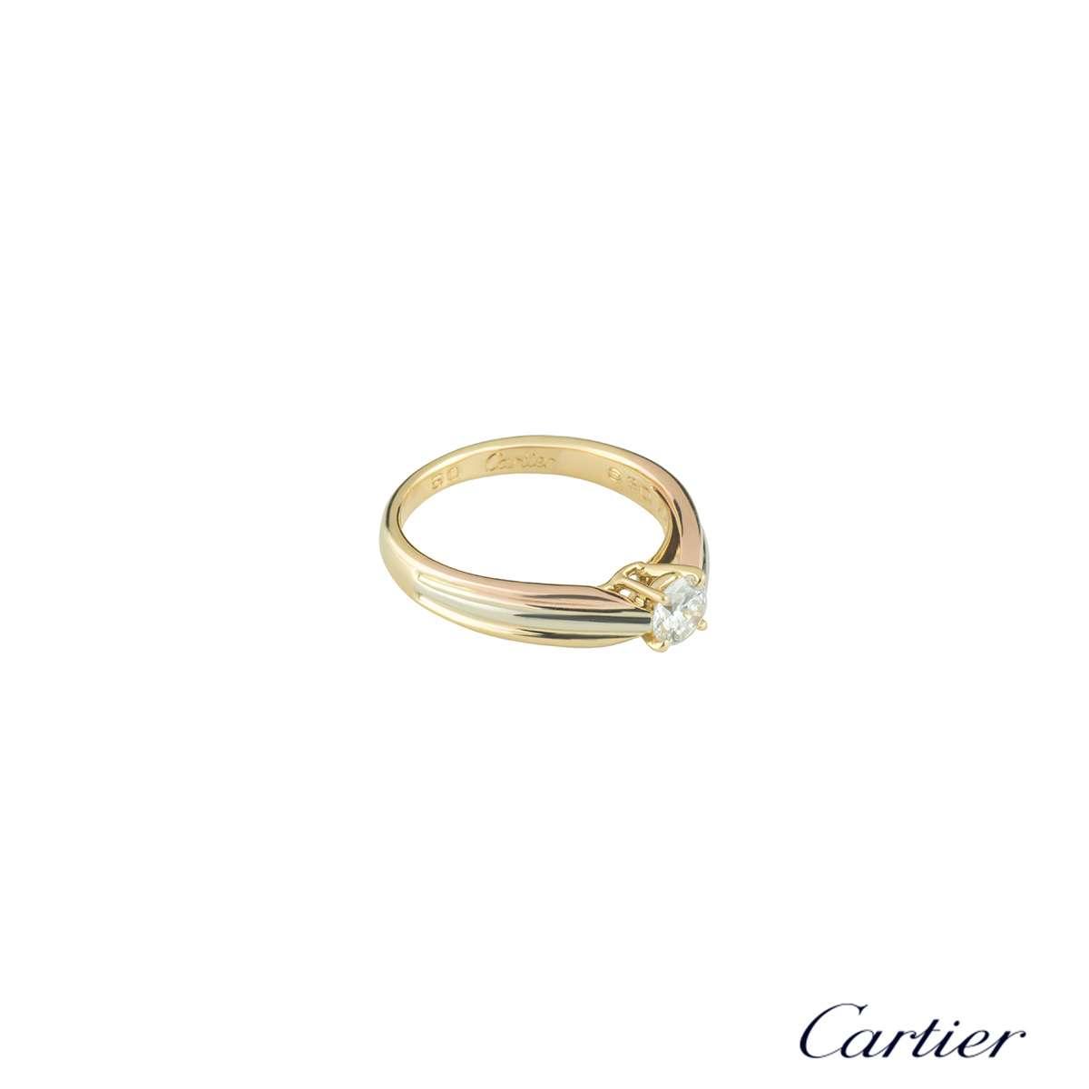CartierTrinity Diamond Ring0.34ctE-F/VVS2